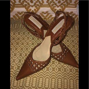 Women's brown Michael kors ankle strap heels